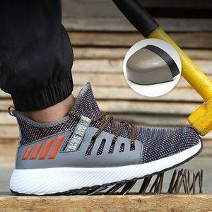 남성 통기성 안전 신발 에어 메쉬 불멸 스니커즈 보호 부츠 200,916 안티 - 스매싱에 대한 남성 강철 발가락 안전 작업 신발