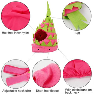 Pet Cute Holiday Party Hat Costume Pitaya Fruit Design Accessories And Adjustable Headband For Dogs, Cats