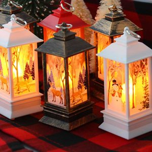 Christmas Candle LED Light Lantern Christmas Tree Ornament Decoration For Home New Year Gift Noel Kerst Decoratie