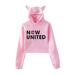 2020 Now United - Better Album Cat Hoodie Women Better Now United Lyrics Pullover Girl Kawaii Harajuku Tracksui MX200812