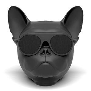 هدية لاعب الفاخرة الكلب رئيس سماعات بلوتوث لاسلكية بطاقة راديو صوت الكمبيوتر المحمول بلدغ مضخم صوت الموسيقى للمرأة الطفل
