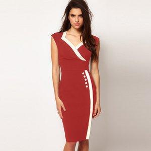 Womens eaby vendita caldi commerciale Nuova estero Big Factory all'ingrosso modo europeo ed americano professionale White Collar Ol Large Size Dress