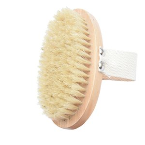 Hot Dry Skin Body Brush Soft Natural Bristle Shower Brushes Wooden Bath Shower Bristle Brush SPA Body Brushes Without Handle DBC BH3768