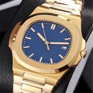 18 개 색상 명품 시계 골드 실버 자동 기계식 시계 스테인레스 스틸 발광 손 화이트 다이얼 시계 노틸러스 도매 공장