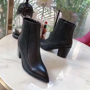 Модные женские ботильоны носки коренастых пяток пригородных ботинок вскользь ботинки платья Нейтральных ботинки