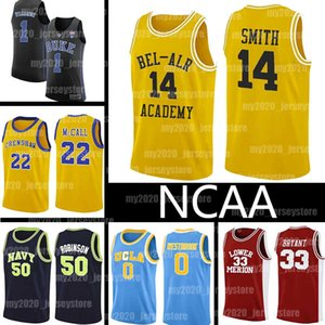 NCAA 14 Will Smith Jerseys Le prince frais de Bel-Air Academy Version du film 22 Quincy McCall LeBron 23 James Russell 0 Westbrook Basketball
