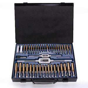 86Pcs Tungstem Placage Acier Titane SAE Tap And Set Die combinaison Outils métriques Outils kit main