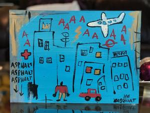 Jean Michel Basquiat pittura a olio di Deco della parete della decorazione domestica dipinta a mano HD Stampa Olio su tela di arte della parete della tela di canapa Immagini 200816