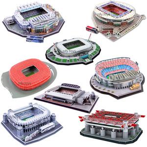 Foodball rompecabezas 3D Mundial de Fútbol Estadio Europea Patio del fútbol Montado edificio modelo del rompecabezas juguetes para los niños