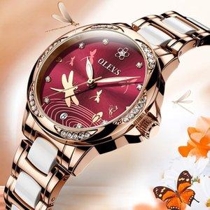 Le nuove donne 2020! OLEVS guardano, impermeabile automatica orologio femminile meccanica, vigilanza di ceramica, regalo per le donne