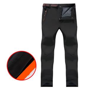 VEAMORS uomini di pesca escursione del campeggio esterna pantaloni più caldo velluto impermeabile antimacchia e decontaminazione Plus Size Pants