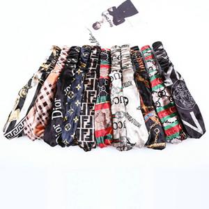 coreano velluto fascia elastica signore capa di stampa Cintura Fashion Designer headwraps 46 disegni Donne Accessori per capelli Bandane