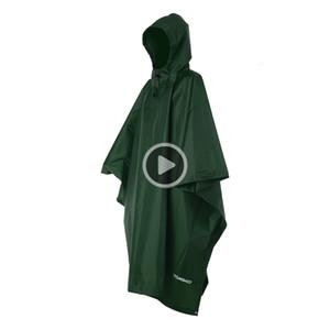 TOMSHOO Multifunktionale Licht Raincoat mit Kapuze Wandern Radfahren Regen er Poncho Regen-Mantel-Outdoor-Camping-Zelt-Matten
