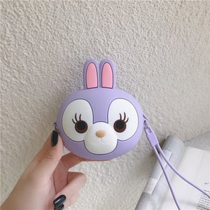 Star Dailu coin purse purple rabbit girl heart cute silicone messenger Stella Silicone wallet Small bag wallet rabbit small bag
