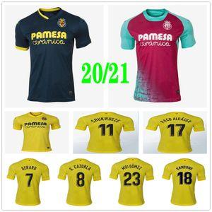 2020 2021 Villarreal CF Fußball-Trikots S.CAZORLA CHUKWUEZE FORNALS PEDRAZA MORENO Ekambi IBORRA Custom Home Auswärts Dritter 20 21 Fußball-Hemd