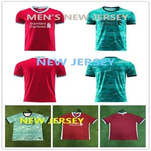 Spitze Männer LIVERPOOL Herren # 10 MANÉ # 11 M.SALAH # 9 FIRMINO # 4 VIRGIL HENDERSON # 26 ROBERTSON 20-21 Fußball Jersey und individuell gestaltete Fußball Jersey