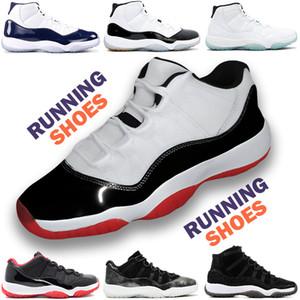Новая 2019 11 Разводят 11s Concord 11 Реальных углеродного волокна обувь Top Quality Gym Red Гамма синей Полночь Navy баскетбол с коробкой мужчинами