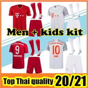 20 21 Bayern JAMES Futbol forması 2020 2021 Münih LEWANDOWSKI MULLER forması Hummels Futbol gömlek Erkekler setleri üniformalar + çorap