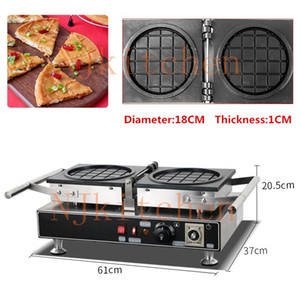 Pizza ronde commerciale Savory Gaufrier 110V 220 V Big Cheese Fruit Grip Rempli Waffle machine de fer Baker Pan