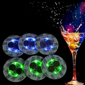 Led Bar Cup Coaster Light Up Cup Sticker For Drinks Cup Holder Light Wine Liquor Bottle Party Wedding Decoration Supplies T2I5694