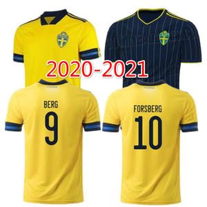 2020 السويد الرئيسية لكرة القدم بعيدا جيرسي # 7 LARSSON رقم 9 BERG ISAK موحدة قميص رجالي # 11 GUIDETTI # 12 جونسون QUAISON كرة القدم