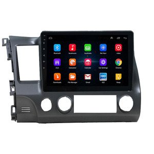 Android 9.0 Touch Screen Bluetooth Stereo Car Audio Video Player For Honda CIVIC 2006-2011 GPS Navigator Silver