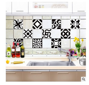 2020 Classic mosaic self-adhesive tile paste creative kitchen paste crystal film bathroom waterproof and oil resistant wall sticker