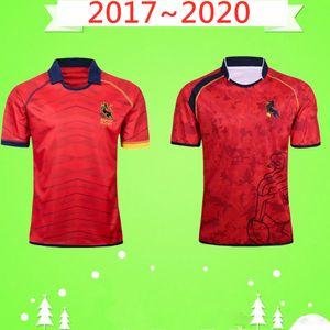 2017 2020 ESPAGNE RUGBY JERSEY HOME maillot national de rugby équipe 17 20 Cour hommes Rugby Domicile Extérieur jeu maillots rouge souvenir t-shirt Top qualité