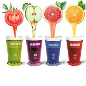 5 Farben für Kinder kreative neue Früchte Saft Cup Früchte Sand Ice Cream Slush-Shake-Maschine Slushy Milkshake Smoothie Cup M2579
