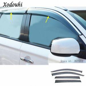 Для Mitsubishi Outlander 2016 2017 2018 кузова автомобиля стилизации Стик лампы пластиковых оконного стекла Wind козырька дождь / Sun Guard Vent 4шта Xe5Q #