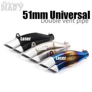 Evrensel 51mm Akrap Motosiklet Egzoz Susturucu Çift SC Moto Boru DB katil Yarışı İçin YZF Yoshim Lazer R3 CBR650 NINJ Kaçış