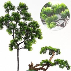 Yapay plastik Pinaster Cypress Noel düşmek Çam ağacı Dallar yaprak gB9r # çelenk yeşillik çiçek aranjmanı Yapraklar dekorasyonlar