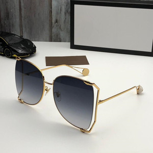 2020 Fashion 0252 Sunglasses Women Designer Popular Fashion Big Hollow Frame Summer Style Top Quality UV Protection Lens Come With Case