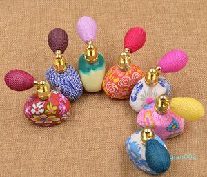 New Brainbow 15ml balão Perfume garrafas vazias garrafa reutilizável atomizador spray Polymer Clay spray Scent Bomba caso do curso portátil