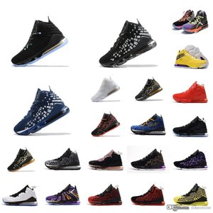 Cheap mens james lebron 17 basketball shoes 2020 Navy White Gold Tan USA Red Black Halloween Easter new lebrons xvii sneakers boots with box