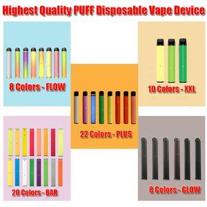 PUFF Disposable Device Vape Pen Pod Bar Starter Battery Start Kit 1.4ml 1500 Puff Cartridge with Security Code Sticker XXL