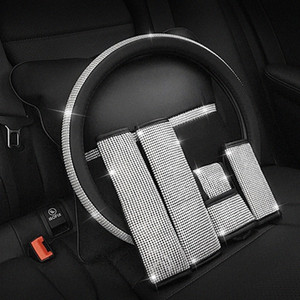 Car Seat Belt Cover Fashion Crystal Car Seat Belt Cover Hand Brake Sets Interior Accessories Hand Brake Covers Sets zTsx#