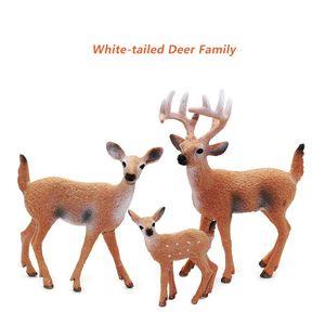 Simulation Animal Model Figure Plastic Decoration Educational Toy Deer Figurine Kids Gift Miniature Forest Animal Zoo Statue