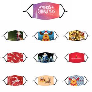 Christmas Party Erwachsene Kinder Maske 3D-Entwurf drucken Muster Dekoration Maske heißen Verkaufs-Breathable-Staub-Beweis über Ohr ReusableMask