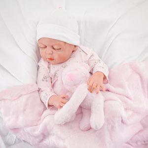 Kavkas Baby Girl Plush Bear Toy Blanket 70X73cm Single Layer Polyester Autumn Blanket Bedding & Swaddle for Newborn Baby Girl