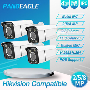 PANOEAGEL 5MP POE IP Camera 8MP Network Camera ColorVu ONVIF Hikvision Protocl For Hikvision NVR Compatible 4pcs lot