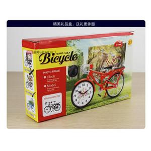 자전거 모양 시계 가정용 테이블 알람 시계 창조적 인 레트로 아라비아 숫자 알람 시계 배치 홈 인테리어는 선물 DBC DH0733 공급
