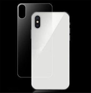 iPhone XS MAX 8 artı Ultra İnce görülebilir Geri temperli cam iPhone XS MAX XR 0.3mm 9H Arka Ekran Koruyucu