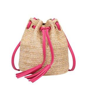 OCARDIAN сумка Женщина пляж Bagcasual Rattan солома Мода Цветого High Capacity Плетение кисточка плечо Bucket Bag M20