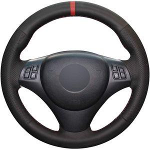 DIY cobertura de volante para BMW M3 2008-13 E81 E82 E87 E88 2006-11 E90 E91 E92 E93 Preto respirável Acessórios Interior