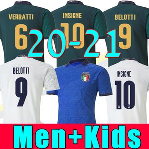 Europameisterschaft 2020 ITALIEN Fußballtrikots Nationalmannschaft Italien INSIGNE BELOTTI VERRATTI KEAN BERNARDESCHI Trikotuniform für Männer und Kinder