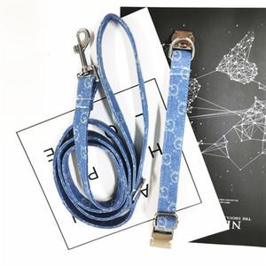 Denim 20ss Pet Brief Halsbänder Kleine und mittlere Hundeleinen Gezeiten-Blumen-Drucken-Kragen-gesetzte Qualitäts-freie Verschiffen-Fabrik-Outlet