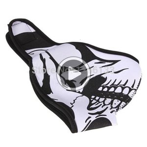 Máscara preta do crânio reversível Neoprene Metade Fa Neve Moto Esporte Biker