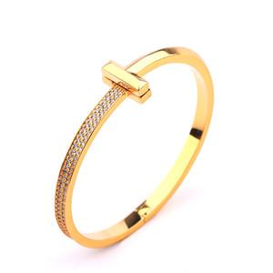 la moda de joyería dorada creativa medio juego de anillos pulsera de las mujeres t pulseras versátil micro femenina luz - conjunto de circón amplia pulsera al por mayor