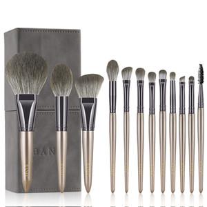 Kit de maquillage en nylon végétalon doux de luxe Kit de maquillage cosmétique Ensemble pour pinceaux de maquillage en poudre Set Fondation Brosse Brosse Brosse